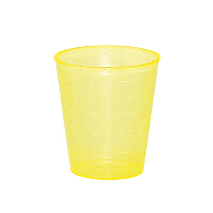 Einnehmebecher gelb, TOP2 (3750 St.)