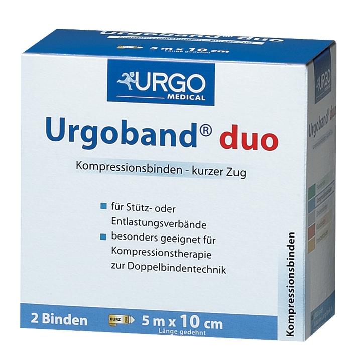 Urgoband Duo Kurzzugbinden, hautfarben, 5 m x 10 cm (2 Stck.)