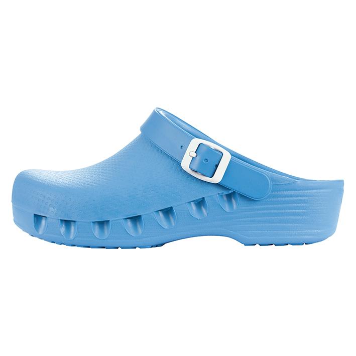 mediPlogs OP-Schuhe mit Fersenriemen, hellblau, Gr. 43