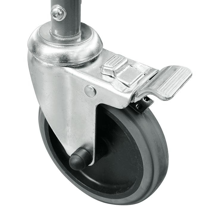 Ersatzrad mit Bremse für Toilettenstuhl, MEG 964400 (neue Ausführung)