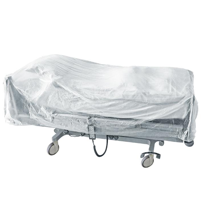 Bettenabdeckhauben aus HDPE, 950 x 3200 x 0,01 mm (200 Stck.)