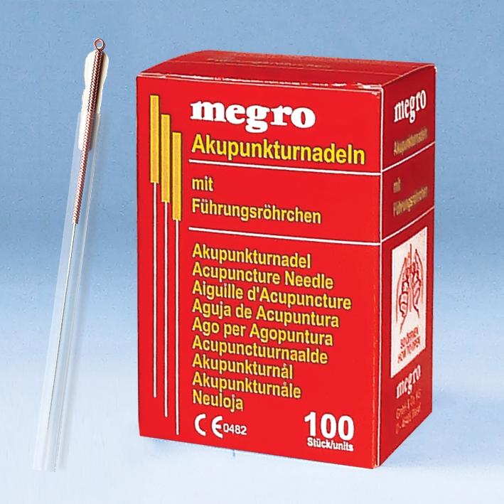 Akupunkturnadeln 0,30 x 30 B1, Kupfergriff (100 Stck.)