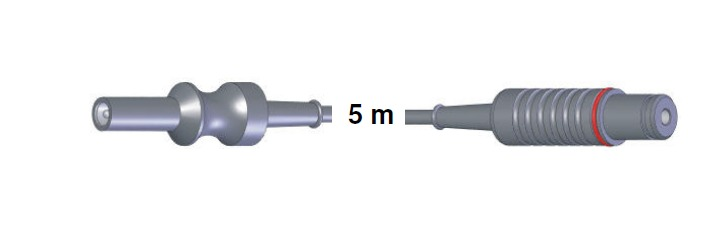 Bipolar Anschlusskabel, AES-BER-MAR -> Storz, 5,0 mtr.