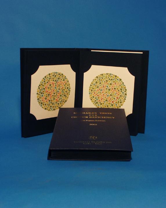 Farbtafeln nach Ishihara, Buch mit 14 Stck., gebunden