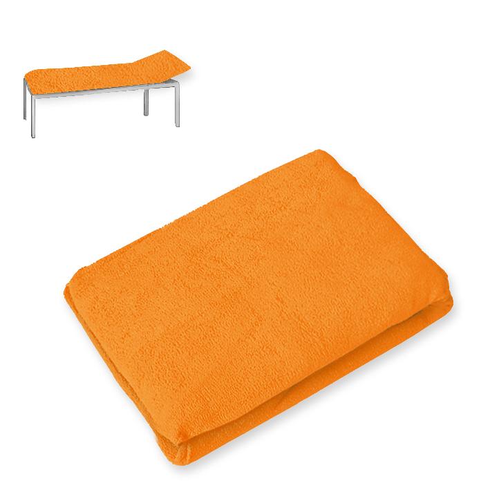 Liegenbezug Frottee orange, 80 x 210 cm