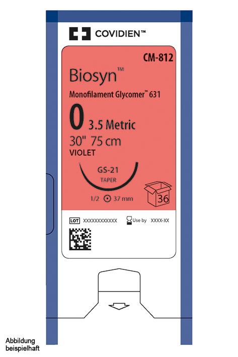Biosyn CV-23 4/0=1,5 violett, Nahtmaterial Fadenlänge 75 cm (36 Stck.)