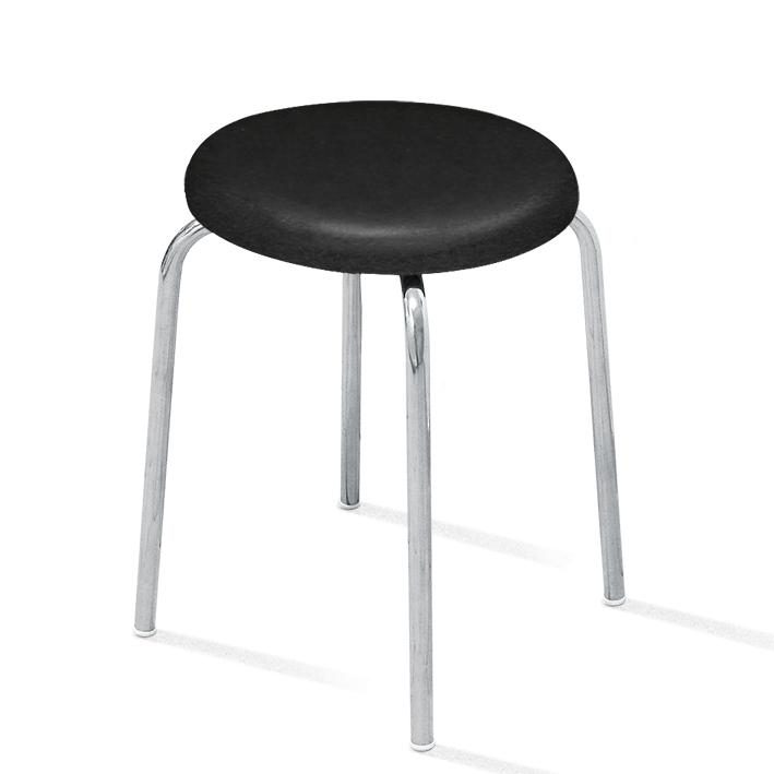Stapelhocker Sitzschale gepolstert schwarz