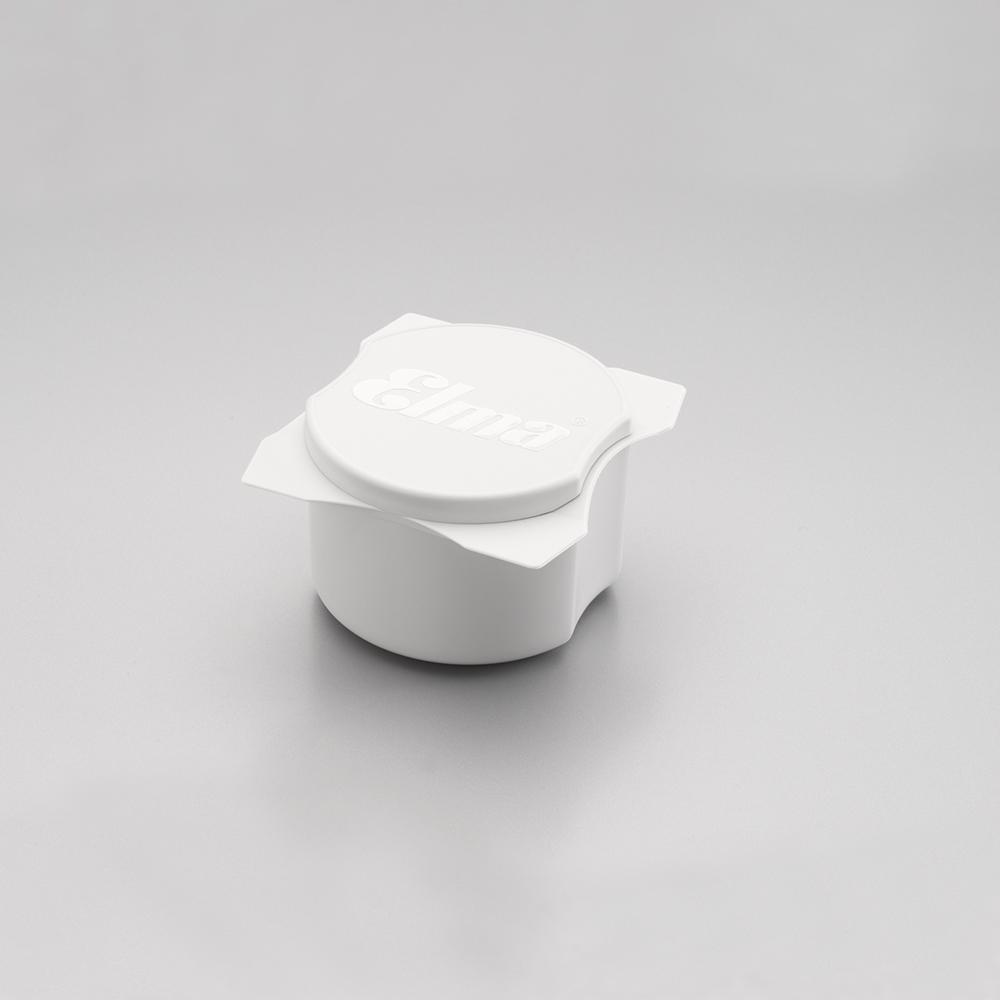 Reinigungsbecher mit Deckel 95/90/55 mm, white