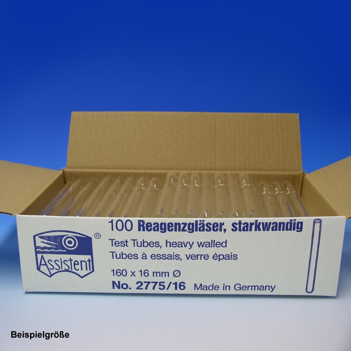 Reagenzgläser starkwandig, 75 mm x Ø 12 mm (200 Stck.)