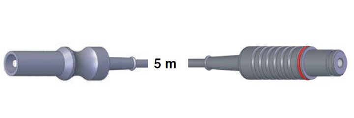 Bipolar Anschlusskabel, ERBE -> Storz, 5,0 mtr.