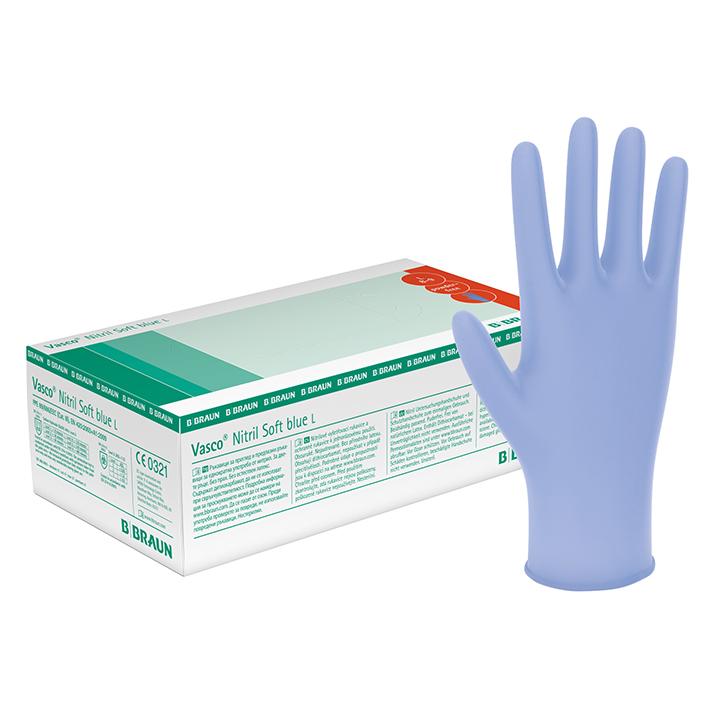 Vasco Nitril Soft blue U.-Handschuhe, PF, Gr. XL, unsteril (180 Stck.)