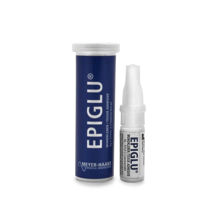 EPIGLU Wundkleber für 40 Anwendungen, (2 Phiolen à 3g, 10 Riegel, 40 Pipetten)