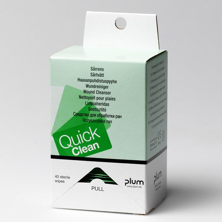 QuickClean Wundreinigungstücher, Refill (40 Tücher)