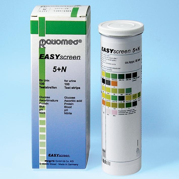 EASYscreen 5+N ratiomed, Harnteststreifen (100 T.)