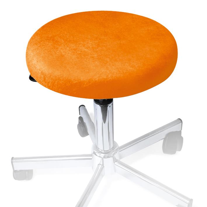 Hockerbezug Frottee orange, für Hocker bis 45 cm Ø