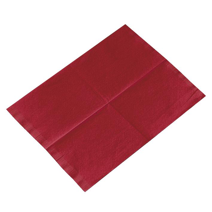 Kopfstützenschoner Tissue/PE, 25 x 33 cm, burgundy (500 Stck.)