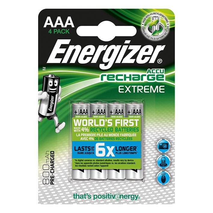 Energizer NiMH Akkumulatoren Extreme, Micro AAA HR03, 1,2 V 800 mAh (2er-Pack),