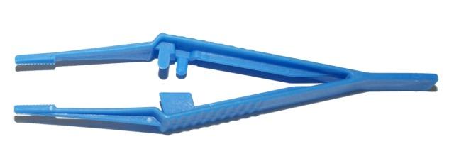Anatomische Kunststoff-Pinzette, Blau, 150mm