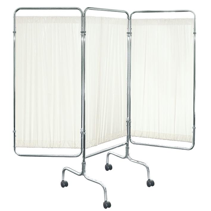 Wandschirm 3-flügelig, fahrbar, Farbe: weiß/weiß/weiß