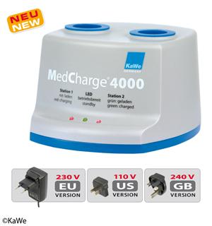 KaWe MedCharge 4000 Ladestation, für Ladegriffe 2,5 V/3,5 V