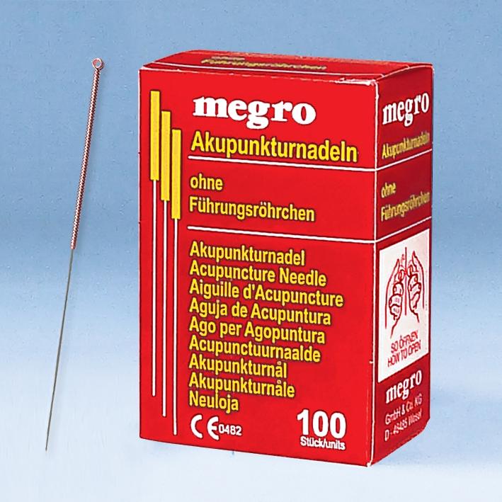 Akupunkturnadeln 0,30 x 30 A1, Kupfergriff (100 Stck.)