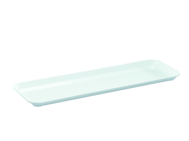 Instrumententablett 420 x 140 x 17 mm, flach, weiß