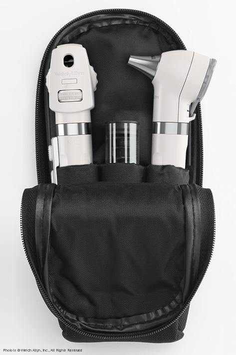 Pocket LED Set perlweiß, mit Softtasche