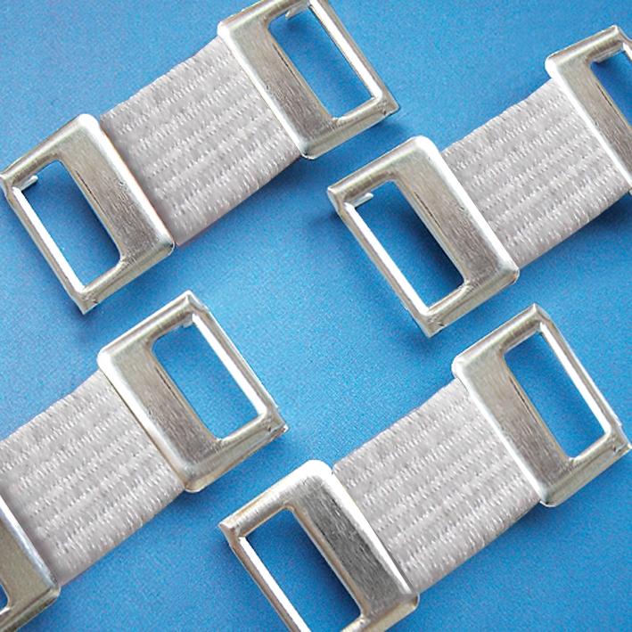 Verbandklammern aus Aluminium, weiß (100 Stck.)