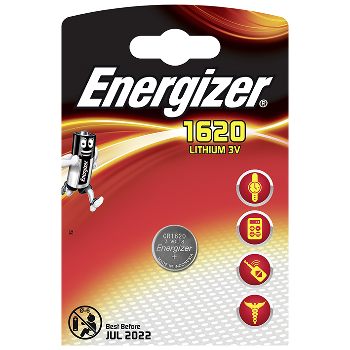 Energizer Batterie Typ CR1620 BP1, 3 V