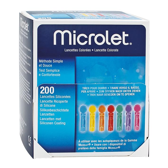 MICROLET Lanzetten farbig, (200 Stck.)