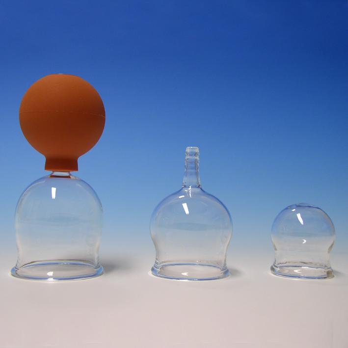 Schröpfkopf mit Olive und Ball, 2,5 cm Ø, mundgeblasen, CE