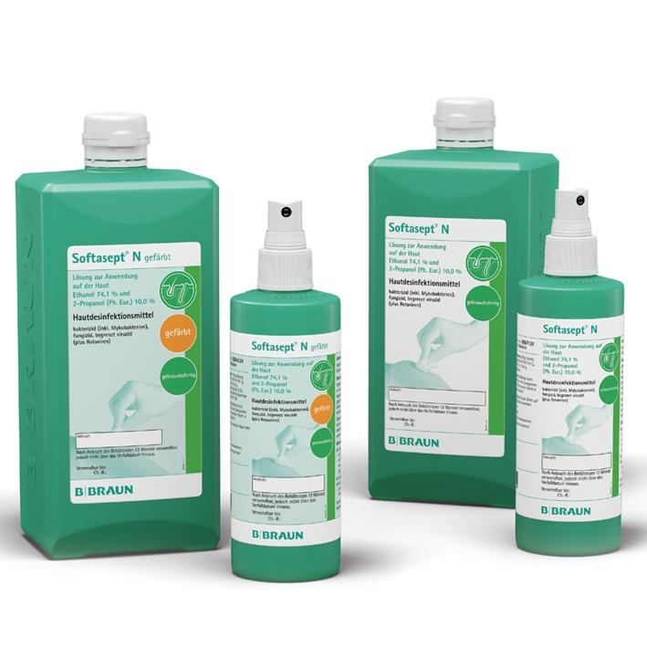 Softasept N gefärbt 1000 ml, Hautdesinfektion