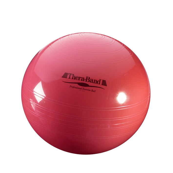 Thera-Band Gymnastik-Ball Ø 55 cm, rot, bis Körpergröße 165 cm