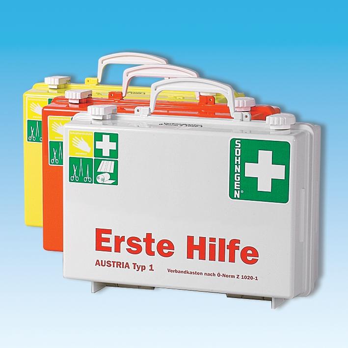 Erste-Hilfe Koffer SN-CD weiß, Füllung Ö-Norm Z 1020-1