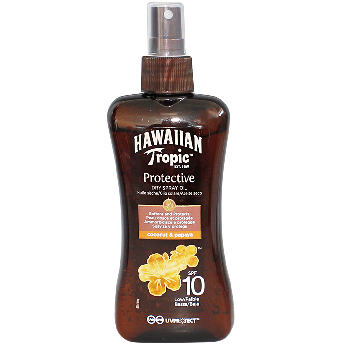 Hawaiian Tropic Protective Dry Spray Oil 200 ml LSF 10