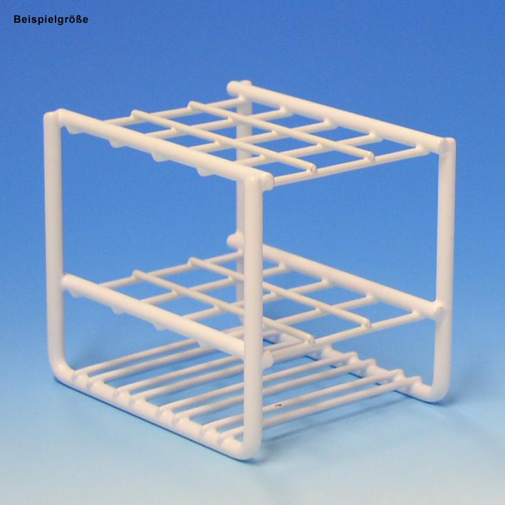 Reagenzglasgestell aus Draht, für 48 Gläser bis 17 mm Ø, ohne Stäbe