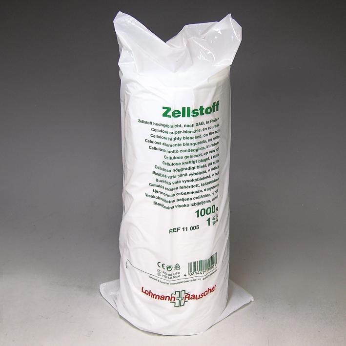 Zellstoff für med. Zwecke hochgebleicht, DAB, 1000 g, Lagen 29 x 38 cm