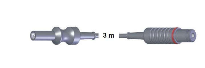 Bipolar Anschlusskabel, AES-BER-MAR -> Storz, 3,0 mtr.
