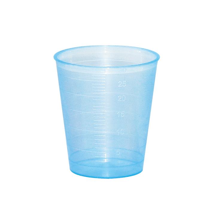 Einnehmebecher blau (75 Stck.)
