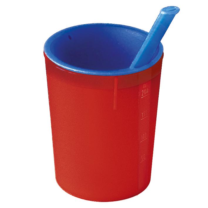 medizinische Trinkhilfe rot-blau, 200 ml