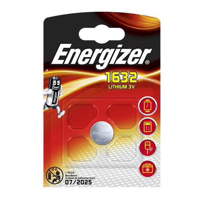 Energizer Batterie Typ CR1632, 3 V