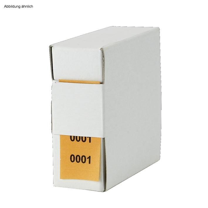 Archiv-Nummern, doppelt 0001 - 1000, orange