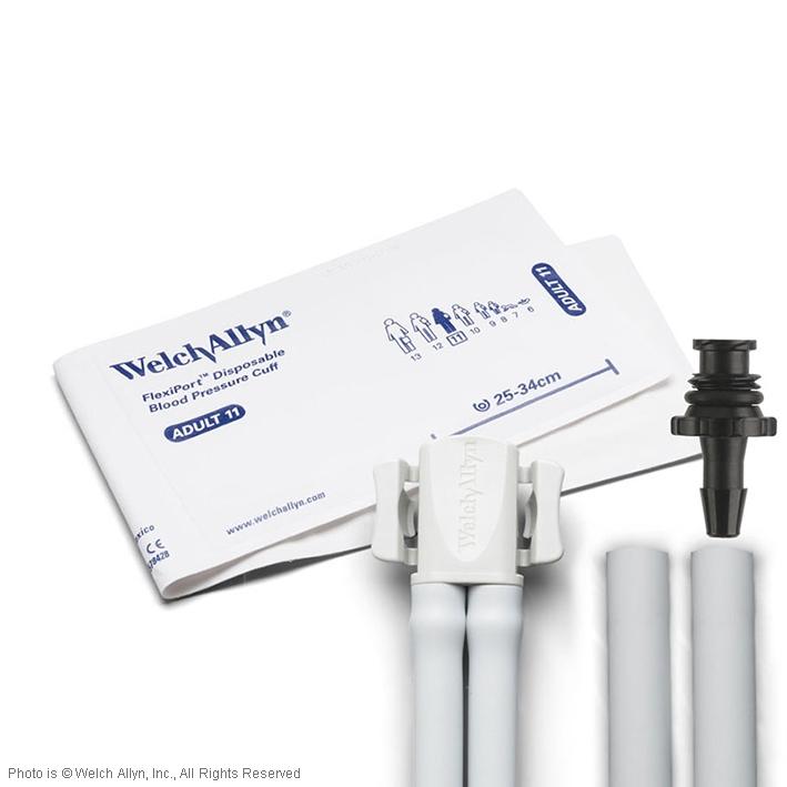 FlexiPort Einmal-Manschetten (20 Stck.), 2-Schlauch, für Erwachsene, mit Tri-Purpose Anschluss