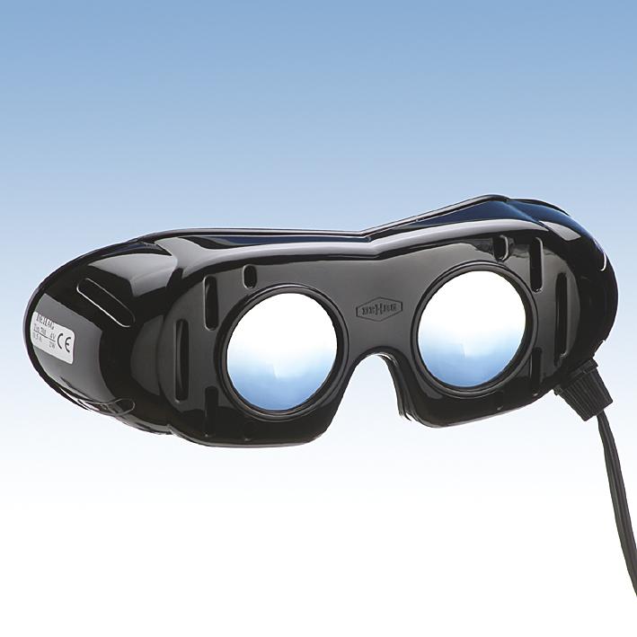 Nystagmusbrille nach Frenzel, festen Gläsern