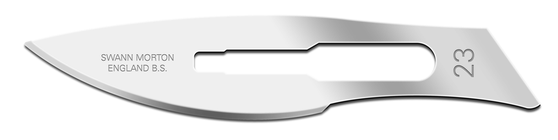 Einmal-Skalpellklingen Swann-Morton, Fig. 23 steril (100 Stck.)