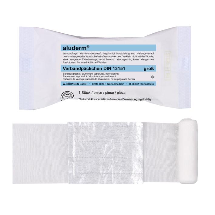 aluderm Verbandpäckchen DIN 13151, groß, steril