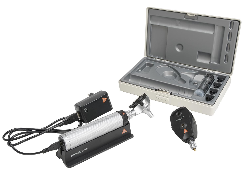 BETA 400 Ophthalmoskop/Otoskop Set LED, BETA 4 USB Ladegriff, USB Kabel und, Steckernetzteil