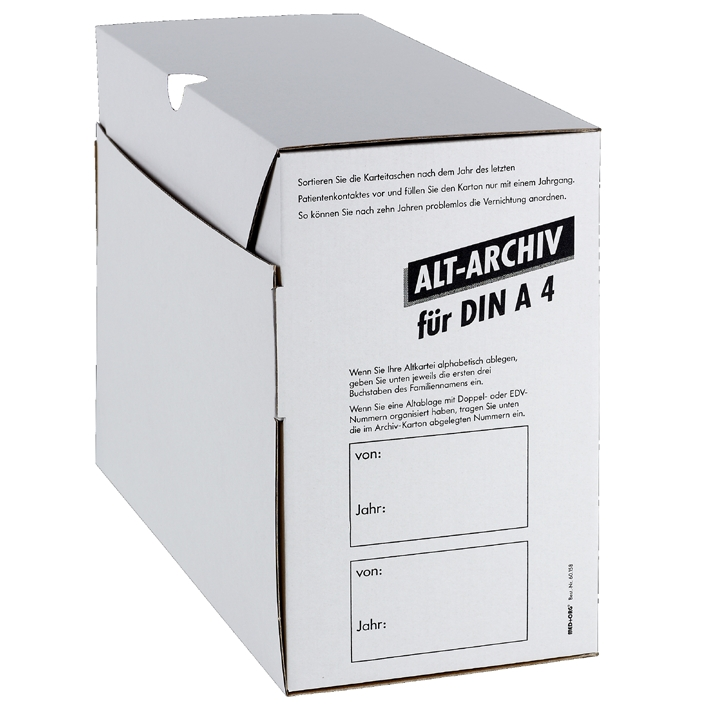 Alt-Archivkarton DIN A4, für alle Fachgruppen (50 Stck.)