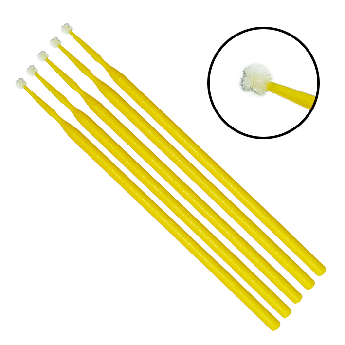 Einmal-Applikatoren medium, beflockt, gelb, 103 mm lang (100 Stck.)