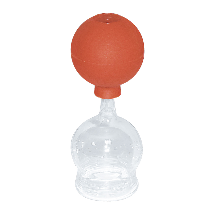 Schröpfkopf mit Olive und Ball, 4,4 cm Ø, mundgeblasen, CE
